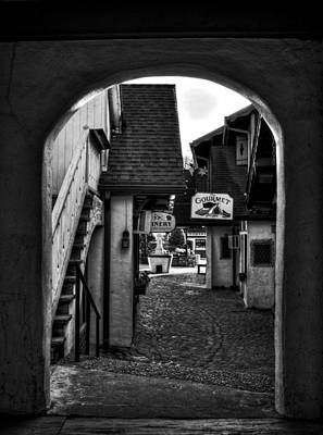 Helen Georgia Side Street In Black And White Poster by Greg and Chrystal Mimbs