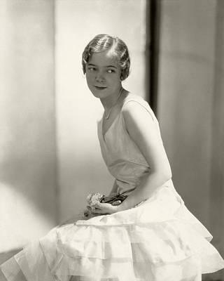 Helen Hayes Wearing A Dress Poster by Edward Steichen