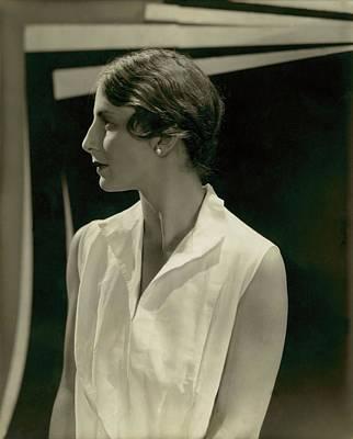 Helen Wills Wearing Pearl Earrings Poster