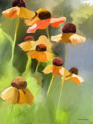 Helen's Flowers Poster by Jo-Anne Gazo-McKim