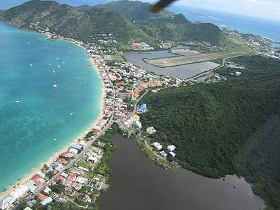 Helicopter View St. Martin Poster by Shop Caribbean