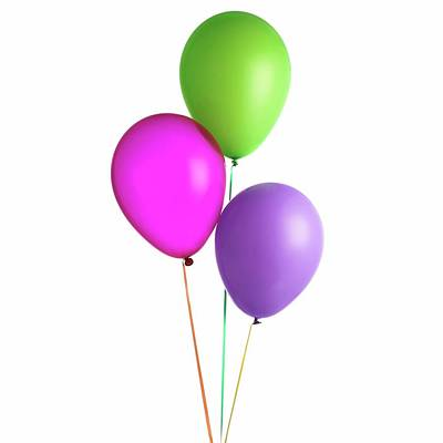 Helium-filled Balloons Poster by Science Photo Library
