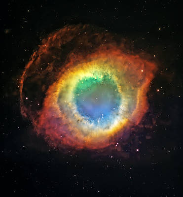 Helix Nebula 2 Poster by Jennifer Rondinelli Reilly - Fine Art Photography