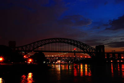 Hell Gate At Night Poster by Jim Poulos