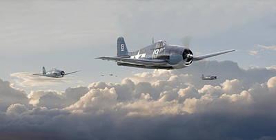 Hellcat F6f - Combat Air Patrol Poster by Pat Speirs