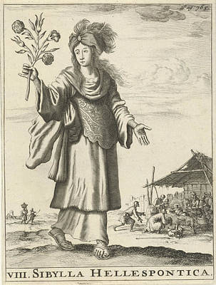 Hellespontic Sibyl, Jan Luyken, Timotheus Ten Hoorn Poster by Jan Luyken And Timotheus Ten Hoorn