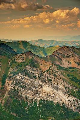 Hellgate Cliffs From Top Of Snowbird Poster