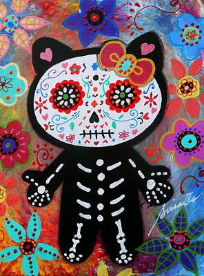 Hello Kitty Dia De Los Muertos Poster