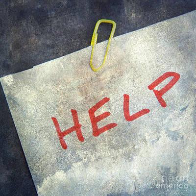 Help Poster by Bernard Jaubert
