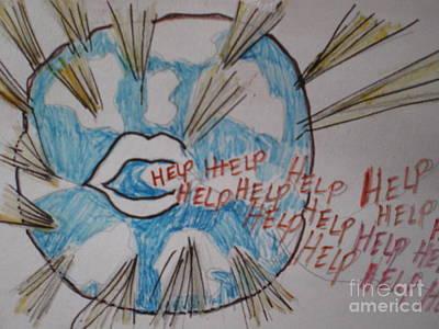 Help The World Poster by Ann Fellows