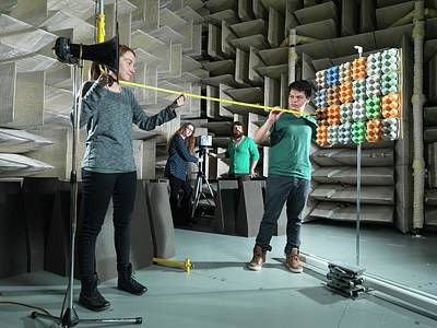 Hemi-anechoic Chamber Research Poster by Andrew Brookes, National Physical Laboratory