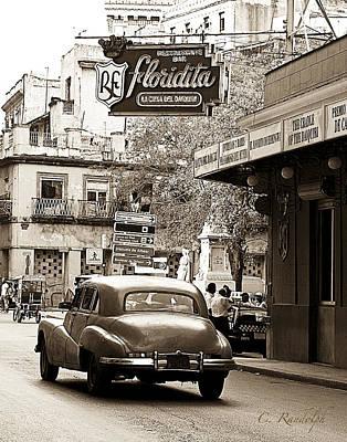 Hemingway Hangout Sepia Poster