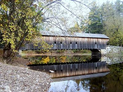 Hemlock Covered Bridge Poster by Catherine Gagne