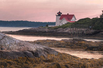 Hendricks Head Light At Sunset Poster