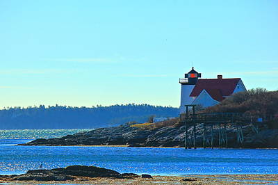 Poster featuring the photograph Hendricks Head Lighthouse 2 by Amazing Jules
