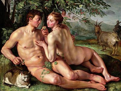 Hendrik Goltzius Dutch, 1558 - 1617, The Fall Of Man Poster