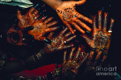 Henna Tattoos For Wedding Ceremony Poster by Kazuyoshi Nomachi
