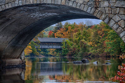 Poster featuring the photograph Henniker Covered Bridge No. 63 by Jeff Folger