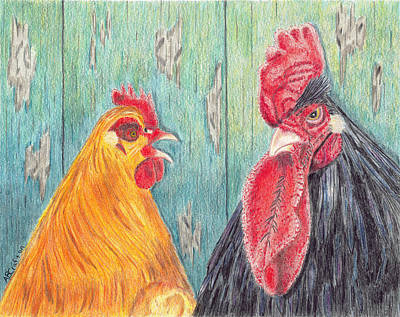 Henpecked Poster by Arlene Crafton