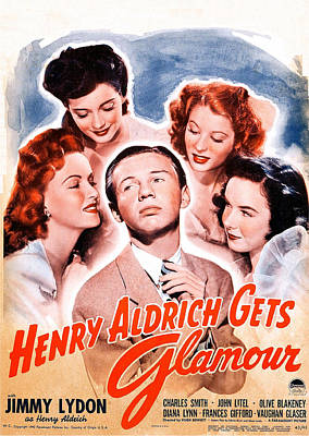 Henry Aldrich Gets Glamour, Us Poster Poster by Everett