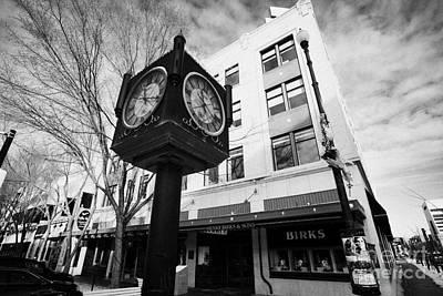 henry birks and sons jewellry store and town clock downtown Saskatoon Saskatchewan Canada Poster