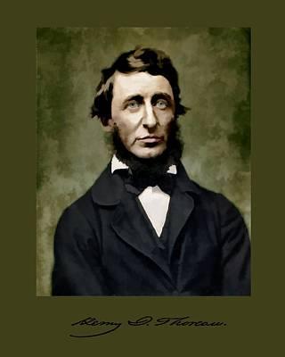 Henry David Thoreau Poster by John Feiser