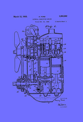 Henry Ford's Internal Combustion Engine Poster