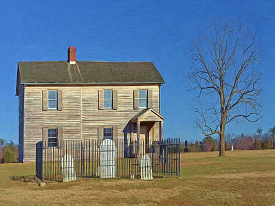 Henry House In Winter / Manassas National Battlefield Poster