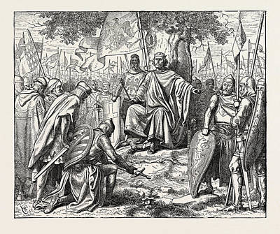 Henry I. Receiving The Homage Of Vassal Chiefs Poster by English School
