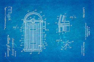 Henry Ice Cream Freezer Patent Art 1912 Blueprint Poster by Ian Monk