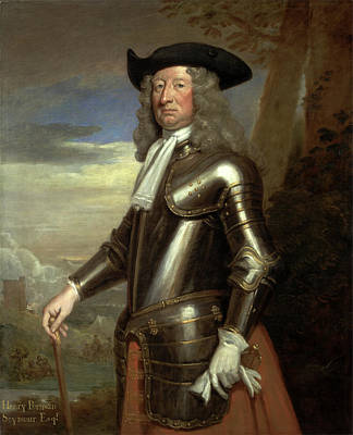 Henry Portman Seymour Inscribed In Ocher Paint Poster