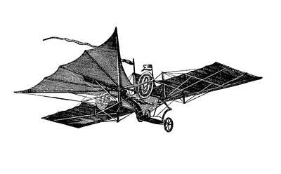 Henson's Aerial Steam Carriage Poster by Bildagentur-online/tschanz