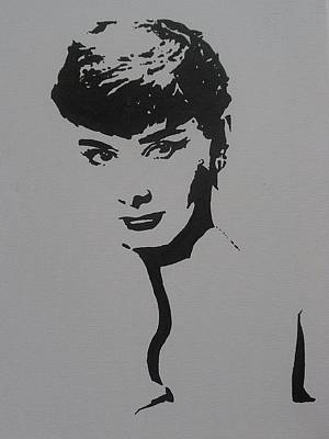 Poster featuring the painting Hepburn by Cherise Foster