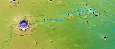 Hephaestus Fossae, Mars Poster