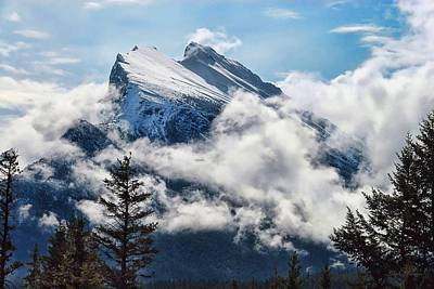 Poster featuring the photograph Her Majesty - Canada's Mount Rundle by Dyle   Warren