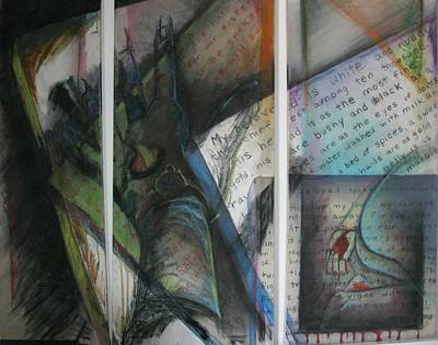 Poster featuring the mixed media Her Song by Carrie Maurer