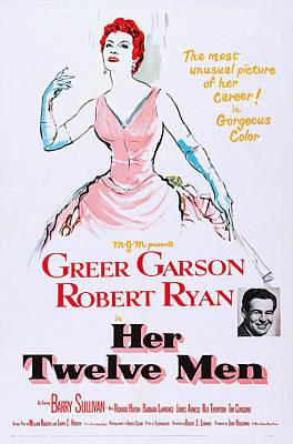 Her Twelve Men, Top Greer Garson Poster by Everett