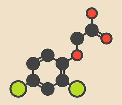 Herbicide Molecule Poster