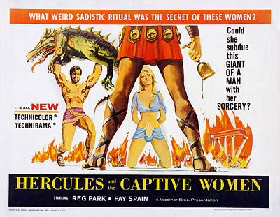 Hercules And The Captive Women, Reg Poster by Everett