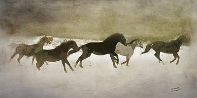 Herd Spirit In Sepia Poster by Renee Forth-Fukumoto