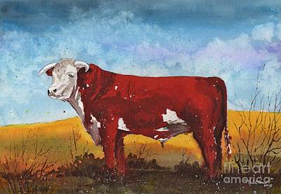 Hereford Bull Poster by Tim Oliver