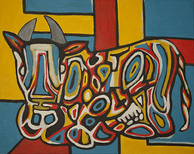 Haring's Cow Poster