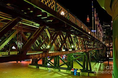 Heritage Swing Bridge Poster by Kaye Menner