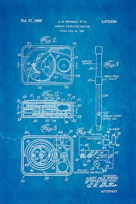 Herman And Marx Cardiac Monitor Patent Art 1969 Blueprint Poster
