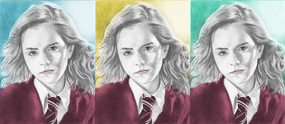 Hermione Granger - 3up One Print Poster by Alexander Gilbert