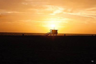 Hermosa Beach Sunset Poster by Scott Pellegrin