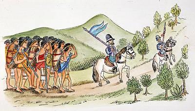 Hernando Cortes, 1519 Poster by Granger