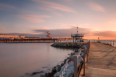 Herne Bay Sunset Poster by Ian Hufton