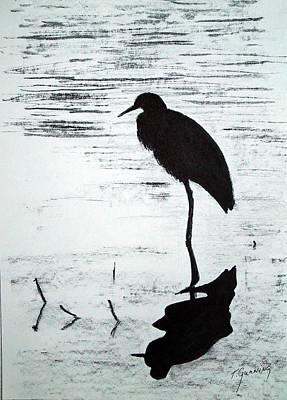 Heron Silhouette Poster