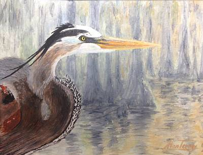 Poster featuring the painting Heron by Stan Tenney